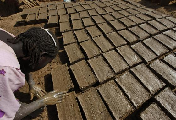 Brick makers rely on silt from the Nile River. (AP)