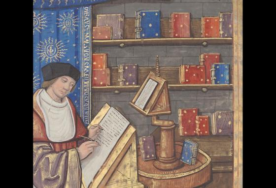 Before the invention of the printing press, people had to write out books by hand.