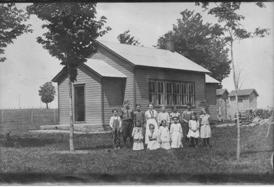 In a one-room school house, one teacher taught every grade.