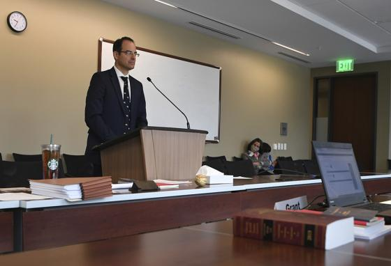 Colorado Attorney General Phil Weiser speaks during oral arguments over telephone. (AP)