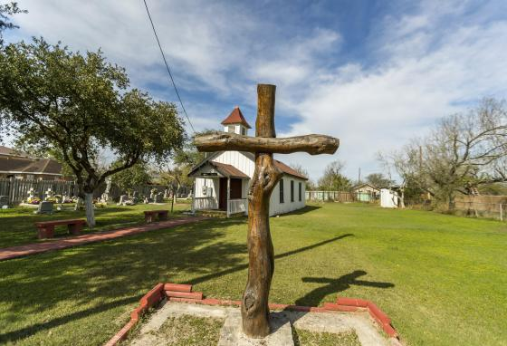 "The Eli Jackson Methodist Church and cemetery is in San Juan, Texas. It is located on a ranch once operated by Nathaniel and Matilda Jackson. The biracial couple is believed to have been ""conductors"" of the Underground Railroad to Mexico. (AP)"