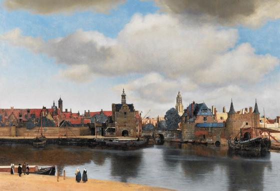 A Vermeer painting of his home city of Delft, the Netherlands
