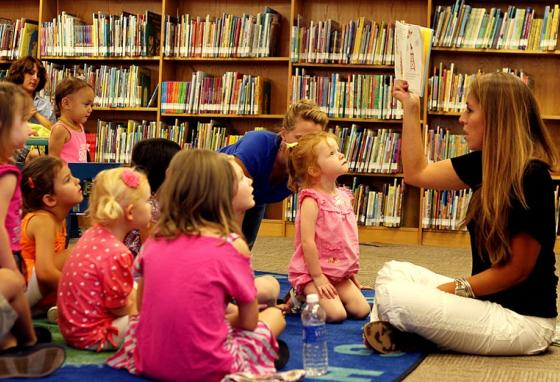 Story hours at libraries are often popular, but the radio is a way to connect with the kids even amid the virus concerns.