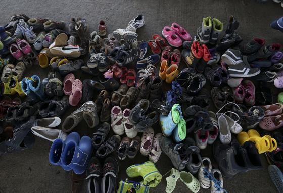 A pile of shoes—except these are all in pairs.