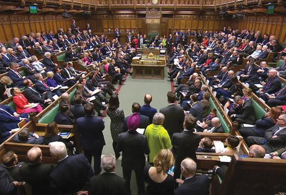 The British House of Commons is a loud place. Leaders shout and argue about how to run the country. (AP)