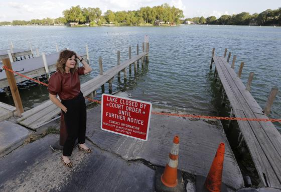 "A homeowner near Lake McQueeney says, ""[Hazardous dams are] something that communities and states all across the country are grappling with."" (AP)"