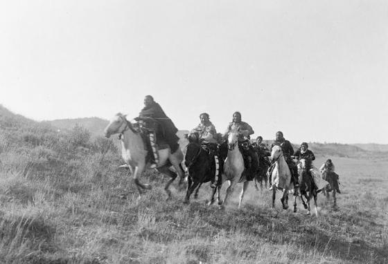 Cheyenne Indians and their horses about 1910 (LOC)