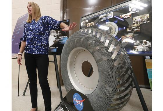 Ms. Oravec's research in the characteristics of extraterrestrial soil has helped in developing new tires for off-world vehicles and rovers. (AP)