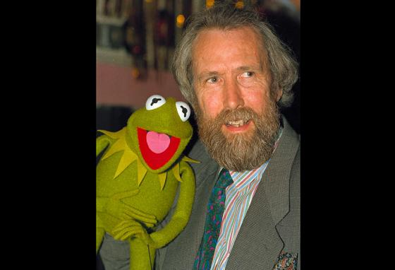 Jim Henson created the Muppets. He poses with Kermit the Frog. (AP)