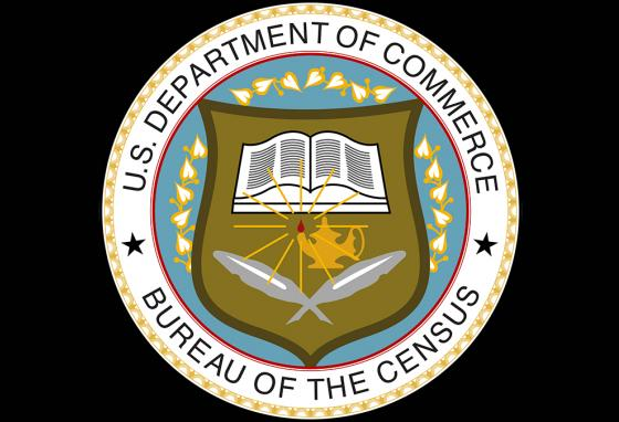 The seal of the Census Bureau shows you the department's roots in commerce. The quill pens were used to write down numbers in the accounting books. (AP)