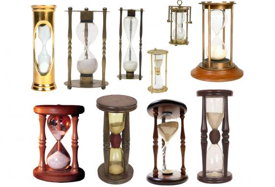 Sand hourglasses are sometimes still used today. Games Pictionary and Boggle use small hourglasses to time players.
