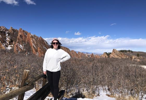 Margaret Stegall enjoys Roxborough State Park in Colorado two days before her liver donation surgery.