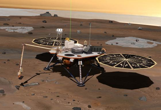 The Phoenix rover landed on Mars on May 25, 2008. It worked until November 2. (NASA)