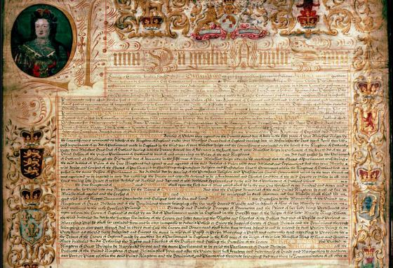 The Treaty of Union led to the creation of the new kingdom of Great Britain in 1707. England and Scotland became one kingdom.