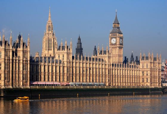 Leaders in the House of Lords and the House of Commons meet in the Palace of Westminster, London.