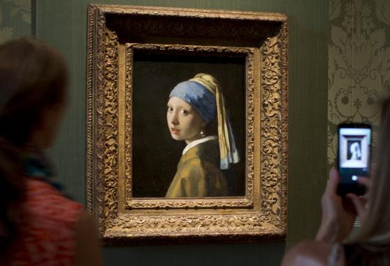 The Mauritshuis museum also displays Johannes Vermeer's famous portrait Girl with a Pearl Earring. (AP)
