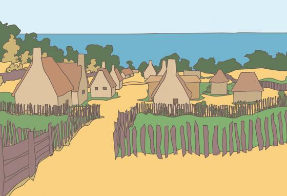 The Pilgrims gave thanks for their new home. (RB)