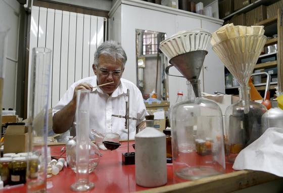 Most perfume is mass-produced now. But master perfumers like Nenad Jovanov, in Belgrade, Serbia, still custom-mix their own scents. (AP)