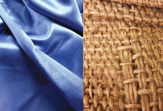 Silk and sackcloth are both mentioned in the Bible.