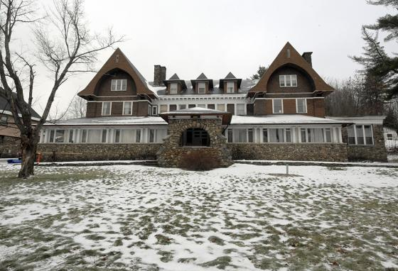 The outside of one of the Trudeau Sanatorium houses where the main treatment for TB was hours of rest outdoors in the chilly, clear mountain air. (AP)