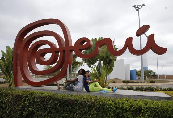 Sandra Cadiz and her daughter Angelis pose for a photo after getting permission to stay in Peru. (AP)