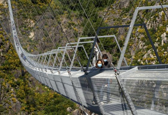 It is the longest footbridge in the world. The builders hope it will bring tourists to the area. (AP/Sergio Azenha)