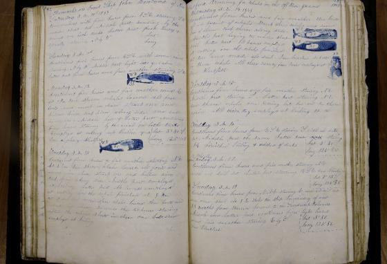 Maritime historians, climate scientists, and ordinary citizens studied 19th-century whaling ship logbooks to better understand modern-day weather. (AP/Stephan Savoia)
