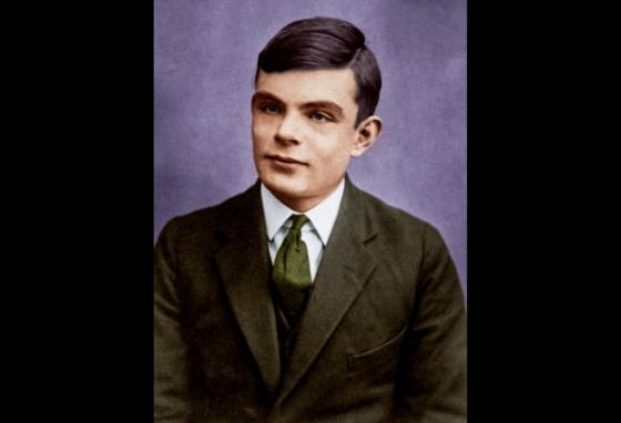 This portrait shows Mr. Turing at 16 years old. He was a British mathematician and pioneer in computer science. (PhotoColor/CC BY-SA 4.0)