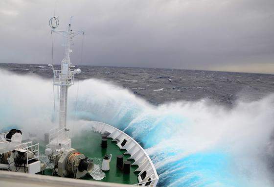 Cold and choppy waters can be dangerous even for large vessels.