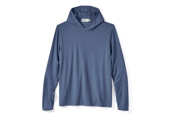 This Wellen Seawool hoodie is made from recycled plastic bottles and oyster shells. (huckleberry.com)