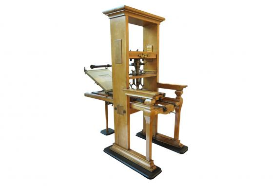 The printing press made it much easier to make newspapers, books, posters, and other printed material.