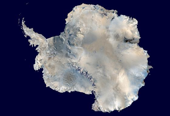 Satellite image of Antarctica (NASA)