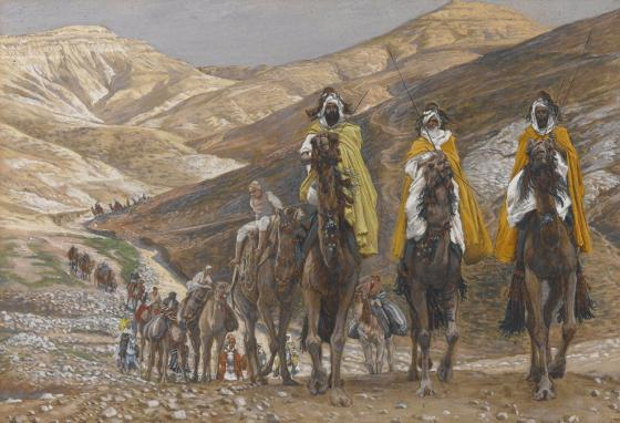 The wise men would have traveled through Iraq. James Tissot's painting, The Magi Journeying (1890)